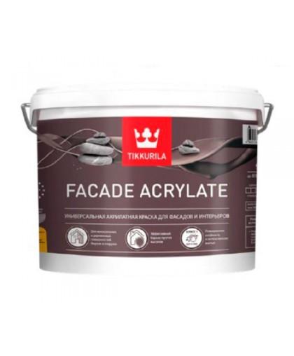 Акриловая фасадная краска Tikkurila Facade Acrylate (Фасад Акрилат)