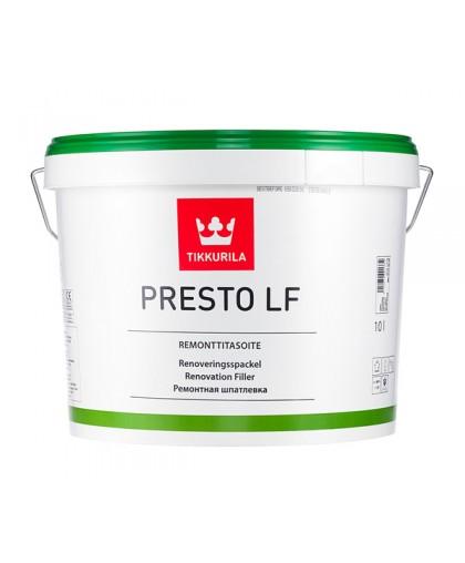 Безусадочная финишная шпатлевка Tikkurila Presto LF (Престо ЛФ)