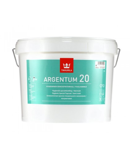 Антимикробная интерьерная краска Tikkurila Argentum 20 (Аргентум 20)