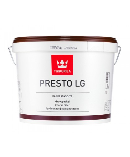 Грубая рельефная шпаклевка Tikkurila Presto LG (Престо ЛГ)