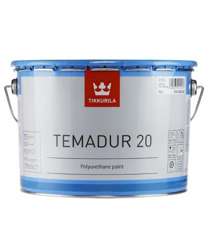 Двухкомпонентная полиуретановая краска Tikkurila Temadur 20, 50, 90 (Темадур)