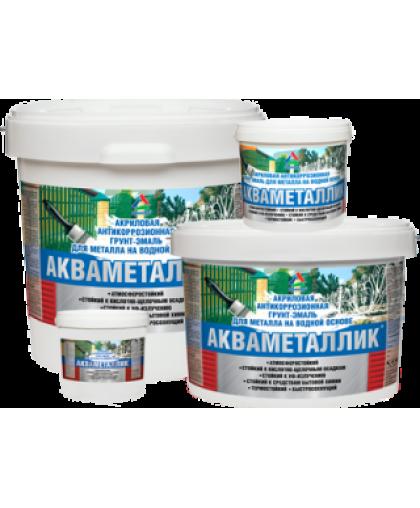 Акваметаллик белый 1 кг (грунт-эмаль)