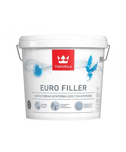 Акрилатная влагостойкая шпатлевка Tikkurila Euro Filler (Евро Филлер)