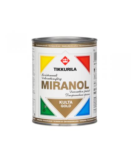 Декоративная краска под металл Tikkurila Miranol золотая (Миранол)