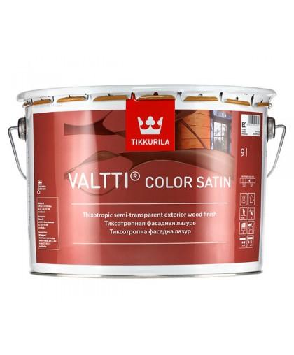 Лессирующий антисептик Tikkurila Valtti Color Satin (Валтти Колор Сатин)