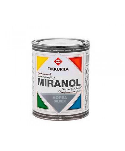 Декоративная краска под металл Tikkurila Miranol серебряная (Миранол)